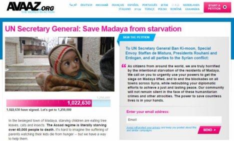 avaaz-petition-madaya